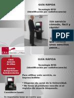 Guia Rápida del Servicio de Autopréstamo y Autodevolución RFID - CRAI Antonio de Ulloa