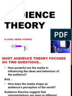 Audience Theory With Egs and Quotes