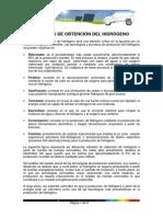 Metodos Obtencion Del Hidrogeno
