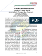 Characterization and Evaluation of Mechanical Properties Of Hybrid Self Compacting Concrete