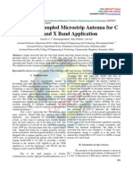 Slot Coupled Microstrip Antenna for C and X Band Application