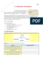Vocabulary, Polynomials2