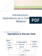 Introduction-Operations as a Competitive Weapon