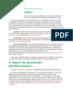 Rapport Sur Les Eaux Géothermales