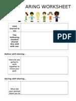 Skill Sharing Worksheet2