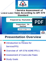 Fitness for Service of Crack Like Flaws, 579 Part 9-M.hosseini Seminar-1390