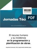 El Recurso Humano y Su Incidencia en La Programación y Programación de Obras