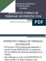Diferentes Formas de Terminar Un Proceso Civil ARGENTINA