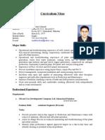 C.v.( Process Engineer)