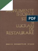 Monumente Istorice Studii Si Lucrari de Restaurare 1964