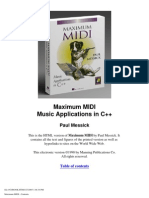 Maximum MIDI Music Applications in C++