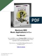 Maximum MIDI Music Applications in C++