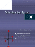 Ch 10 Systim Orthorhombic