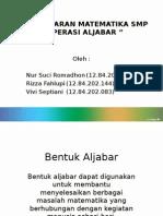 Presentation Opearsi Aljabar