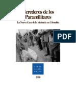 Herederos de Los Paramilitares_Informe HRW_Colombia 2010