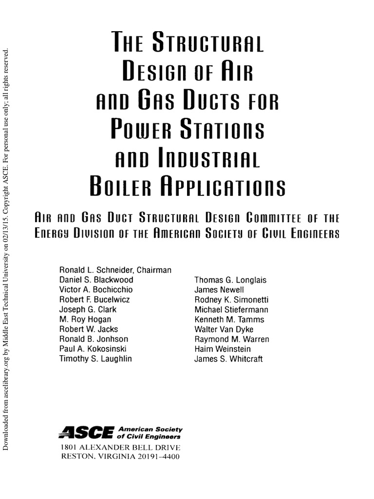The Structural Design Of Air And Gas Ducts For Power