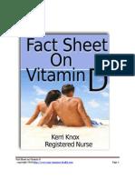 Fact Sheet on Vitamin D