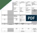 week 3 timetable