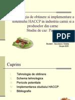 TTehnologia de obtinere si implementare a sistemului HACCP