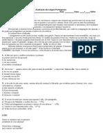 Avaliação de Língua Portuguesa Telma 2