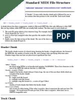 Standard MIDI File Structure