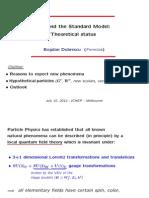 BSM Theoretical Status (2012) - Dobrescu