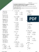Algebraic Expressions III & Algebraic Formulae