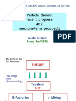Particle Theory - Recent Progress and Medium-Term Progress (2011) - Altarelli