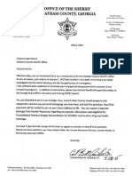 Chatham County Sheriff's Office termination letters