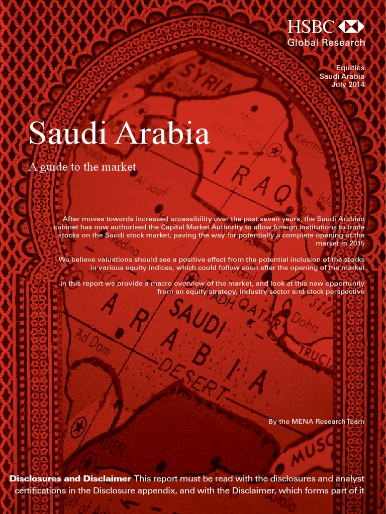 Saudi Arabia a Guide to the Market by HSBC | Stock Market Index | Stocks