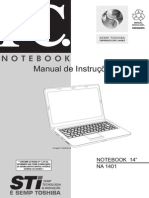 Manual Notebook STI Infinity NA 1401