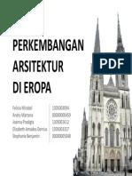 Perkembangan Arsitektur di Eropa