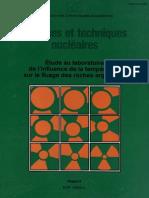 Etude Au Laboratoir Et l Influence de La Temperature Sur Le Fluage Des Roches Argileuses
