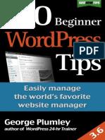 100 Beginner WordPress Tips