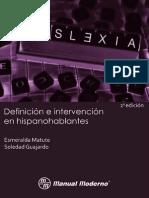 Dislexia Definicion e Intervencion en Hispanohablantes