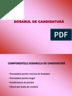 Dosarul de Candidatura