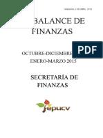 2° Balance de Finanzas FEPUCV 2014-2015