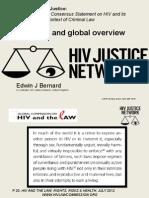 Edwin J Bernard, Co-ordinator, HIV Justice Network Presentation