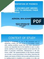 Slide Presentation Action Research
