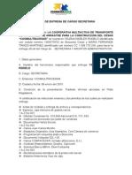 Acta de Entrega de Cargo Secretaria