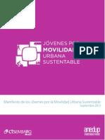 Manifiesto de Los Jóvenes Por La Movilidad Urbana Sustentable