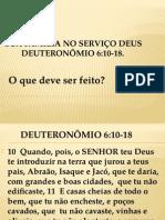 Sua Família No Serviço Deus Deut 6.1