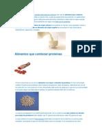 Alimentos Con Protehinas