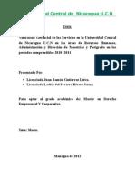 Tesina de Derecho Empresarial y Corporativo en Proceso