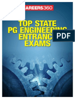 Top State PG Engineering Entrance Exams