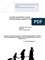 Aparitia speciei Homo sapiens, particularitatule omumului de neanderthal