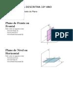 Geometria Descritiva Alfabeto do Plano Resumo