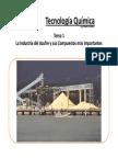 Tema 1 La Industria Del Azufre y Sus Compuestos Más Importantes