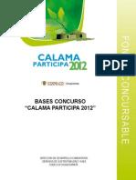 Bases Concurso Calama Participa 2012