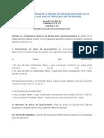 Reglamento de Dotación y Diseño de Estacionamientos en El Espacio No Vial Para El Municipio de Guatemala